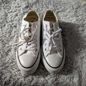 White converse lo platform sneaker
